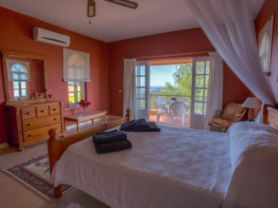 wheelchair accessible bedroom with sea views