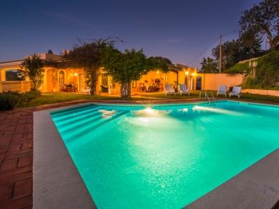pool lit up