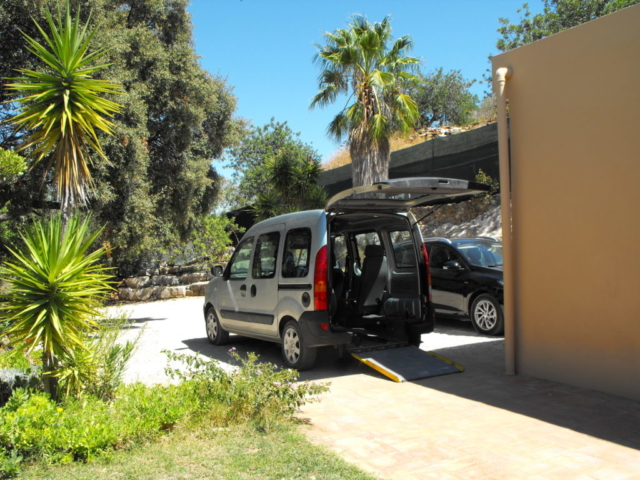holiday accommodation for the disabled, including a wheelchair accessible car, WAV, accessible algarve, portugal for the disabled