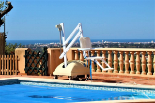 holiday villa for the disabled with pool lift and amazing sea views.