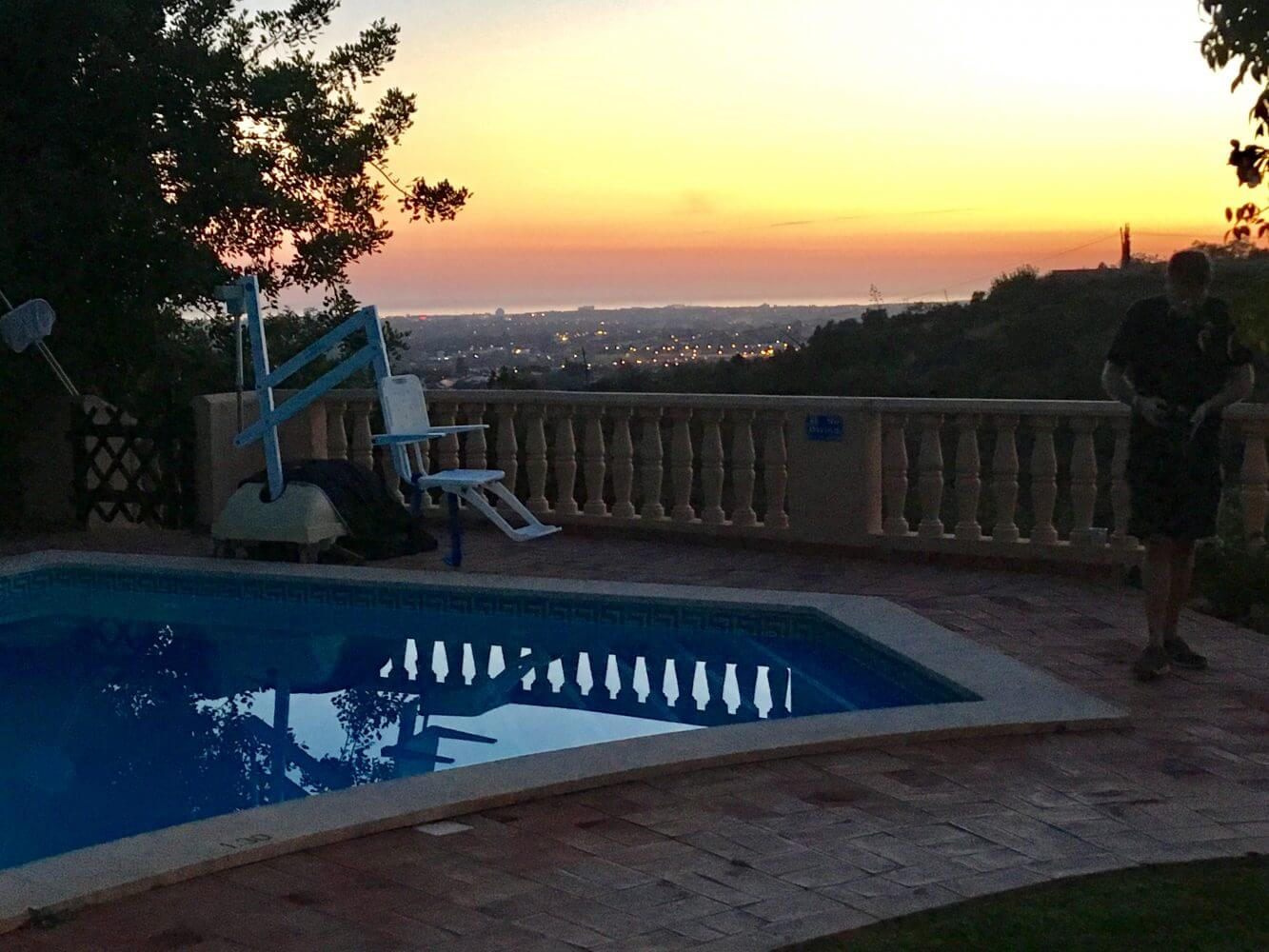Pool lift for the disabled, accessible pool, accessible villa, with WAV holidays for the disabled, algarve portugal