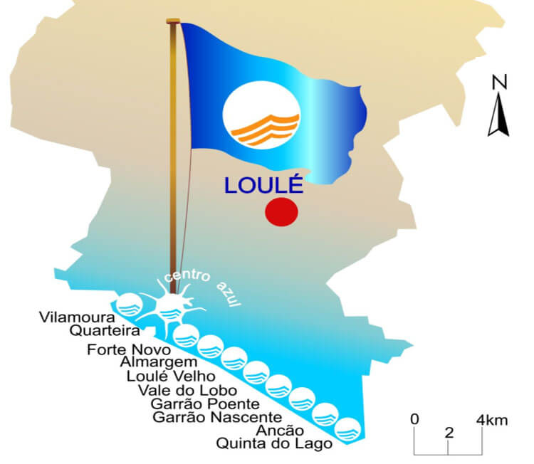 loule blue flag beaches