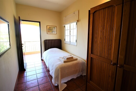 accessible bedroom with terrace, wheelchair friendly, carers bedroom with private terrace