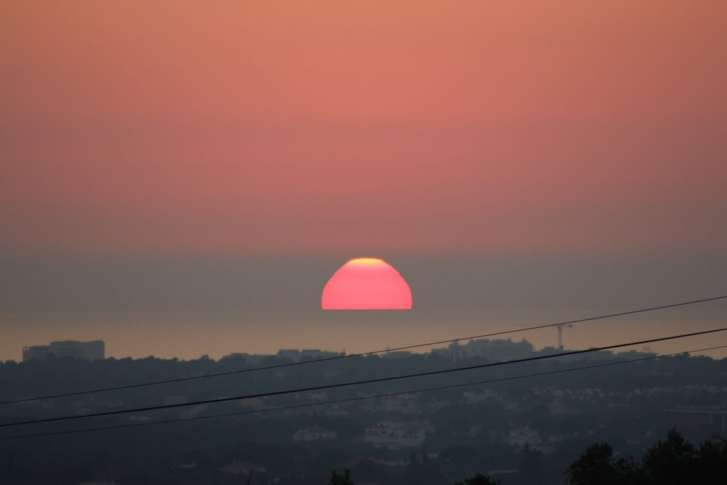 sunset from wheelchair accessible villa, accommodation for the disabled, portugal